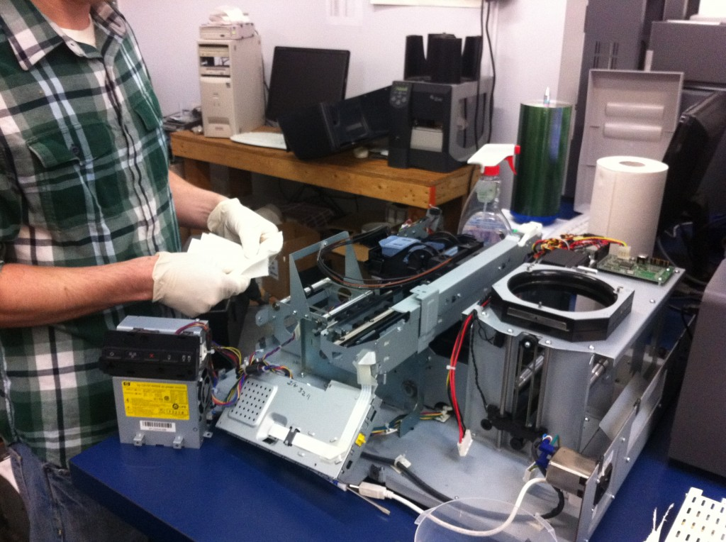 CD and DVD Printer Repair with Microboards