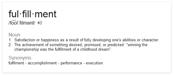Fulfillment wikipedia