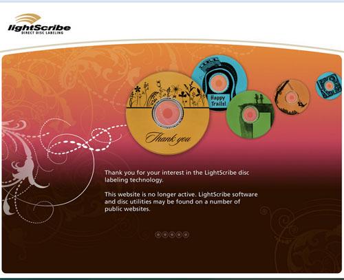 lightscrybe EOL copy